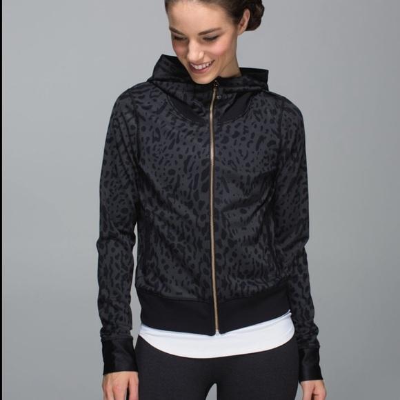 lululemon athletica Jackets & Blazers - Lululemon Namaskar Leopard Print Zip Hoodie